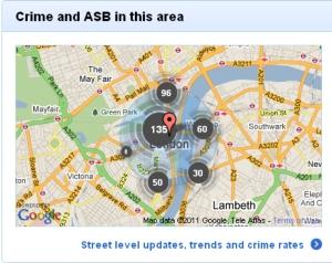 London crime map